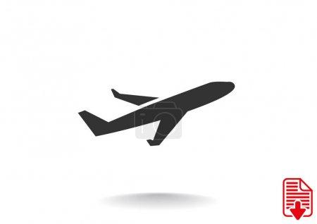 Simple plane icon