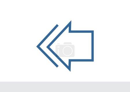 Arrow pointing left icon