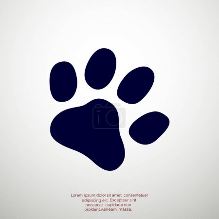 Dog paw track simple icon