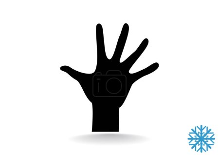 Illustration for Hand stop web icon. vector design - Royalty Free Image