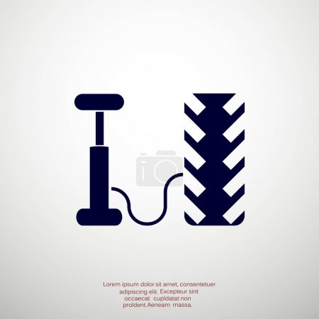 Air pump and tire web icon