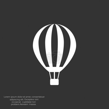 Balloon aerostat web icon