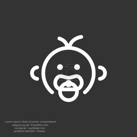 Baby simple icon