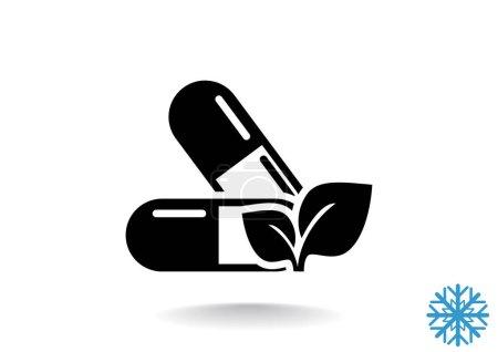 Organic pills web icon