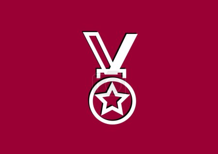Illustration for Medal web icon, vector illustration - Royalty Free Image