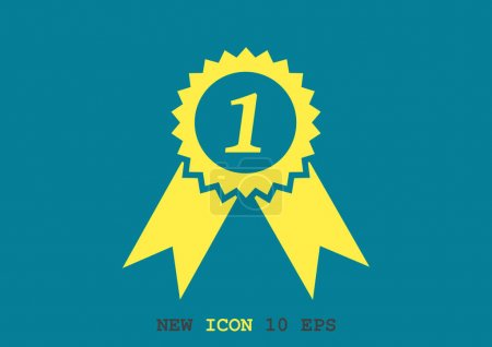 Medal for first place web icon