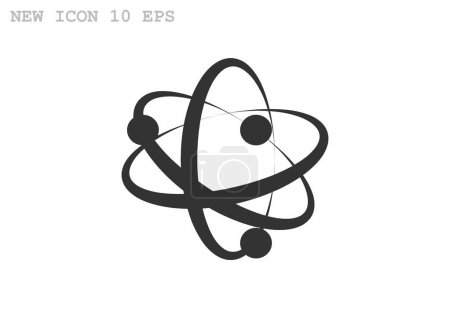 Illustration for Pictograph of atom icon. Vector illustration - Royalty Free Image