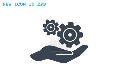 Illustration pour Configurer l'icône Web. conception vectorielle - image libre de droit