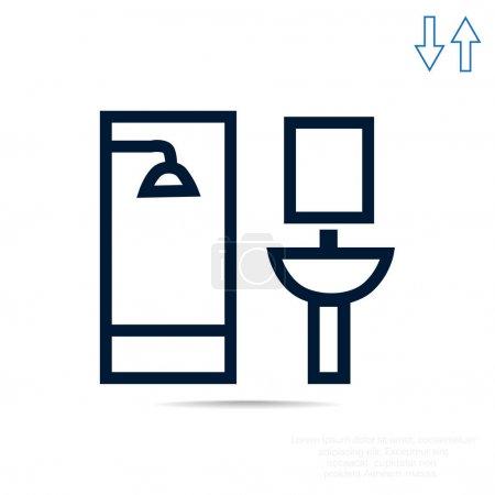 Bathroom web icon