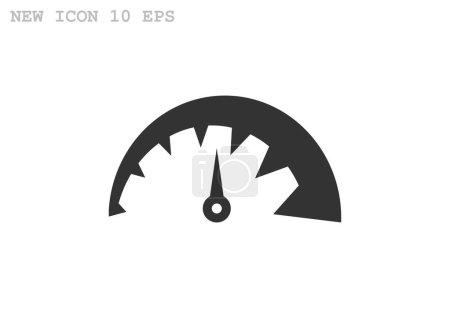 Simple speedometer web icon