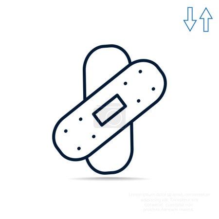 Bandage plaster simple web icon