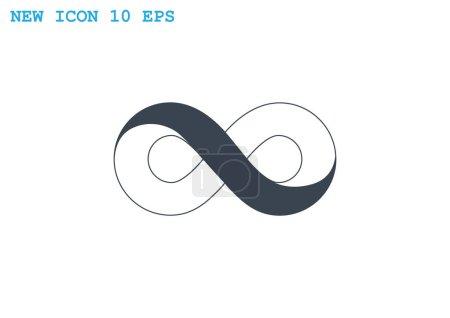 Infinity symbol web icon