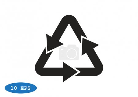 Waste recycling symbol with arrows