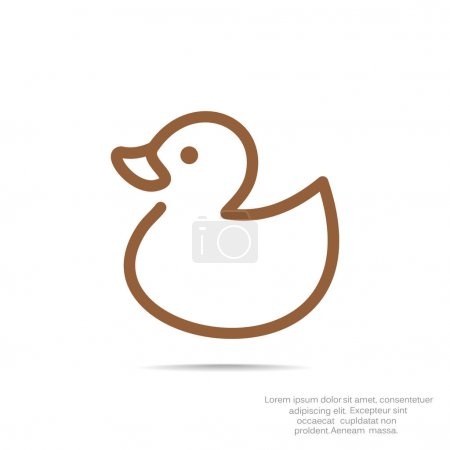 Simple toy duck icon