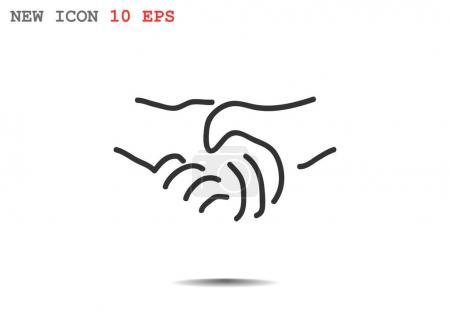 handshake simple icon