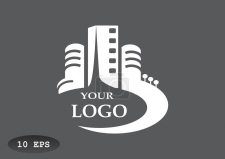 City buildings logo for your company