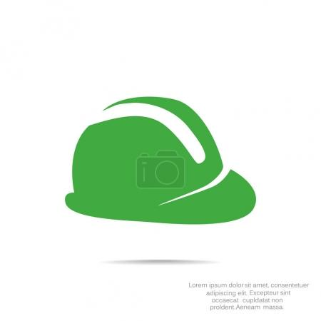 hard hat flat icon