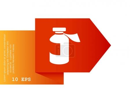 Medicine bottle web icon