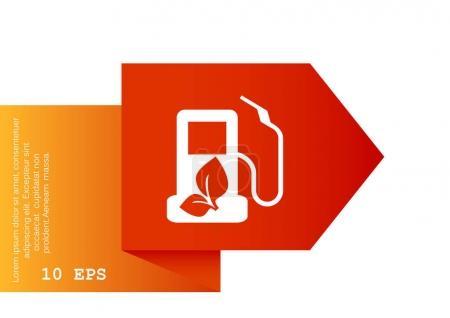 Eco petrol station icon