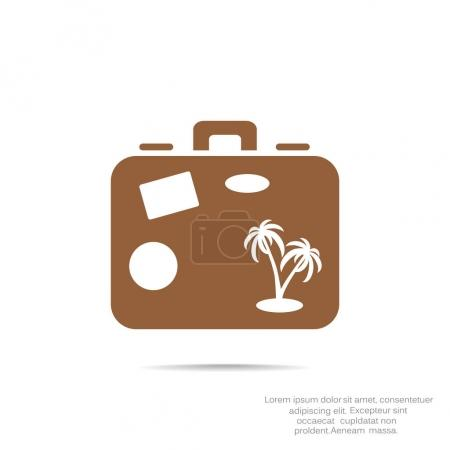 Illustration for Suitcase simple icon, vector illustration - Royalty Free Image