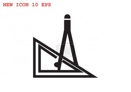 compasses with ruler icon