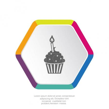 Cupcake dessert with candle