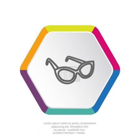 glasses simple icon