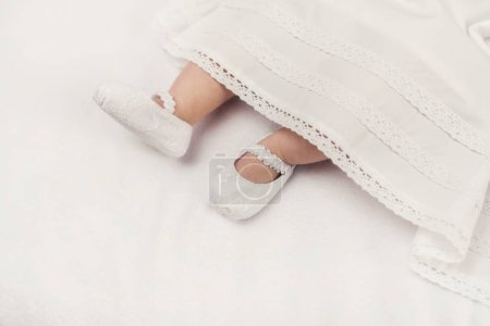 Photo pour Little baby are ready to christering - image libre de droit