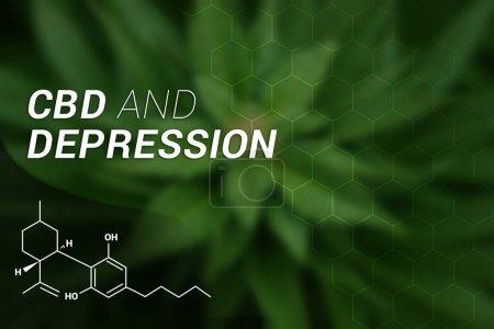 Photo for CBD and Depression | CBD Cannabidiol | Medical Marijuana | Cannabis - Royalty Free Image