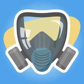 Respirator colorful icon