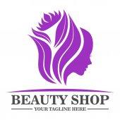 Beauty shop logo design template
