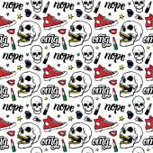 skulls red keds stars typography quotes