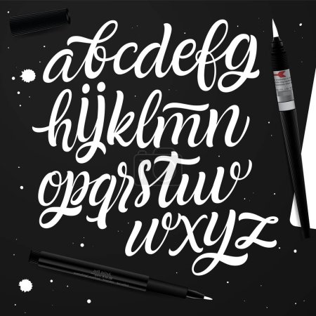 Handwritten alphabet for design