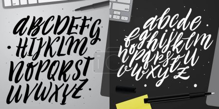 Hand lettering and custom typography.