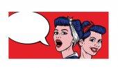 Two  Pop Art Girls Talking