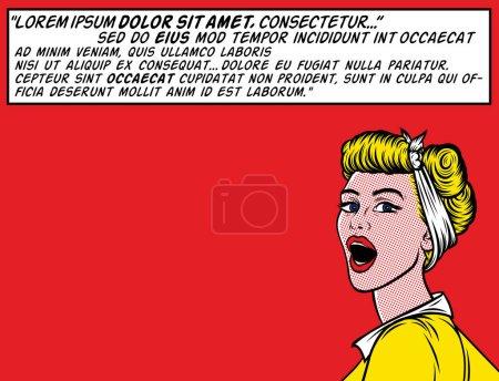 Pop Art Woman   Speaking