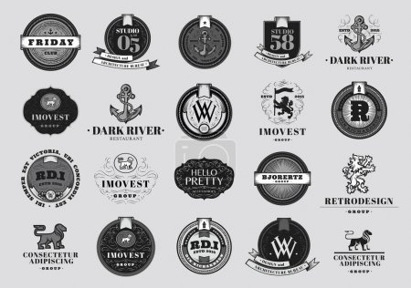 Retro  Emblems and Logotypes