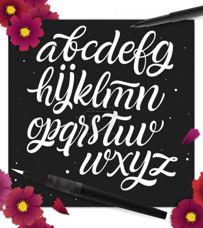 Handwritten alphabet for design