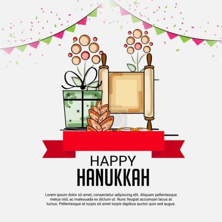 Happy Hanukkah Jewish Holiday.