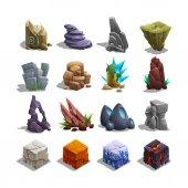 Set of cartoon stones