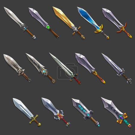 Collection of decoration weapon for games