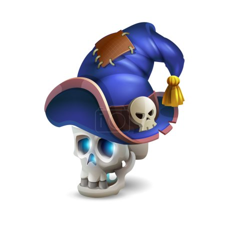 Halloween scull with cartoon hat