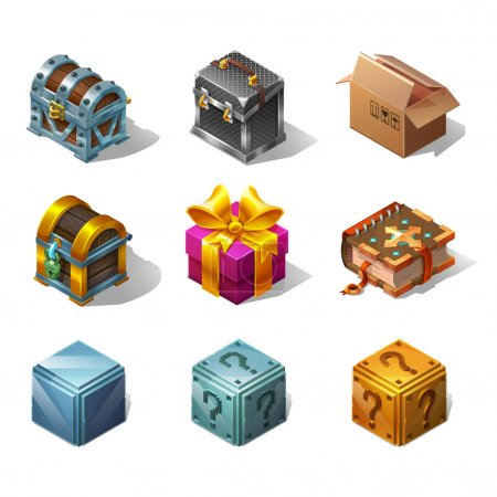 Boxes and objects for game
