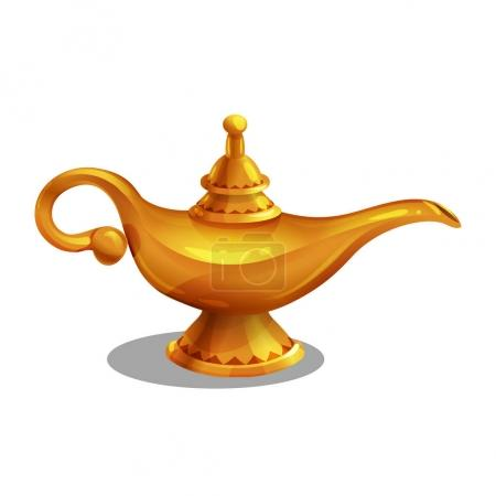 magic lamp with genie.