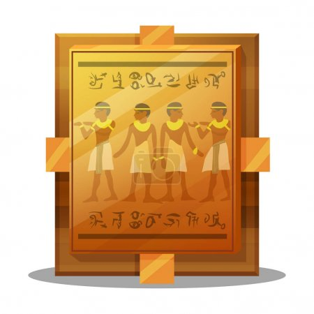 Egyptian gold plate