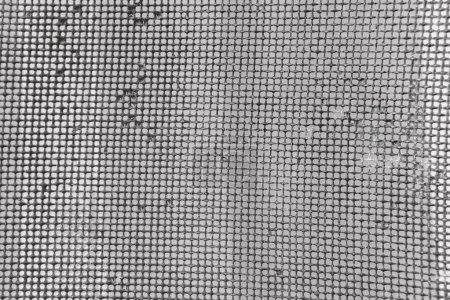 Photo pour Vieille maille rouillée en flou. Modèle coloré. Clôtures métalliques rouillées . - image libre de droit