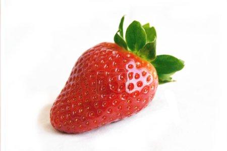 Foto de Fresas deliciosa aislada en fondo blanco - Imagen libre de derechos