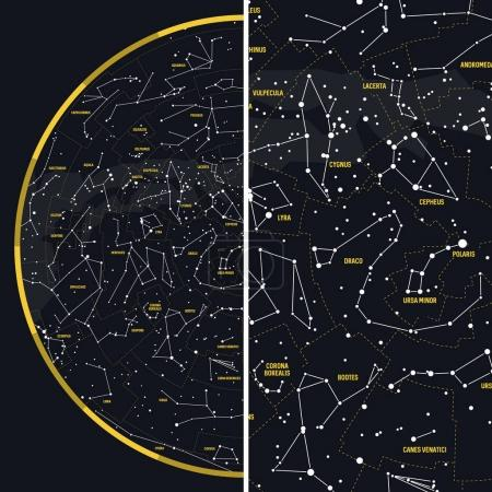 Night Sky with Constellations