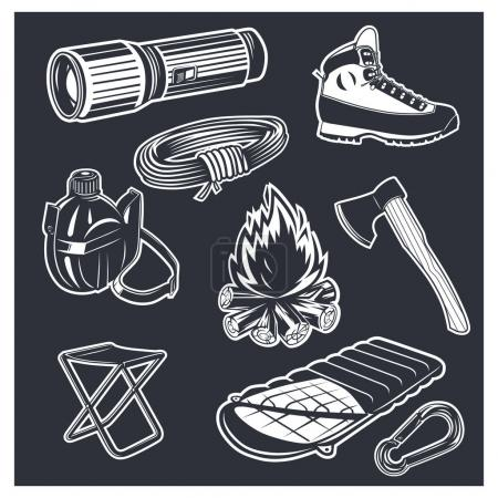 Illustration for Black and white vector objects - Royalty Free Image
