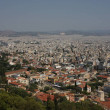 Aerial view of Athens, Greece....